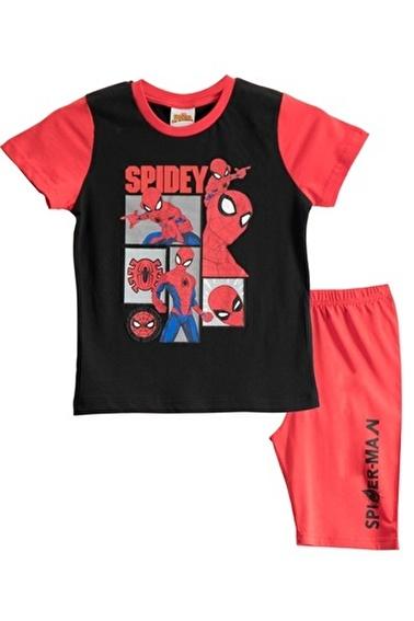 Spider-Man Spiderman Lisanslı Siyah Erkek Çocuk Bermuda Takımı Siyah